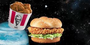 KFC schickt Burger in die unendlichen Weiten