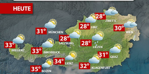 Aktuelle Wetterprognose für Mittwoch (19.7.)