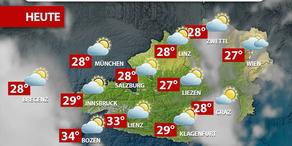 Aktuelle Wetterprognose für Freitag (21.7.)
