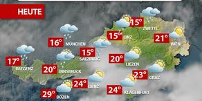 Aktuelle Wetterprognose für Dienstag (25.7.)