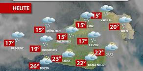 Aktuelle Wetterprognose für Mittwoch (26.7.)