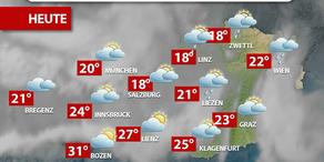 Aktuelle Wetterprognose für Donnerstag (27.7.)