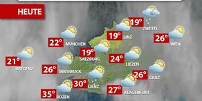 Aktuelle Wetterprognose für Freitag (28.7.)