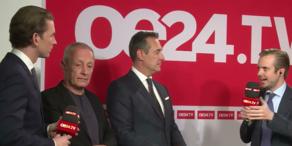Die Runde der Spitzenkandidaten auf oe24.TV
