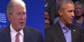 Ex-US-Präsidenten Bush und Obama verurteilen Trump