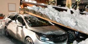 Carport aufgrund von Schneelast eingestürzt