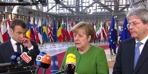 Merkel beim EU-Sondergipfel in Brüssel