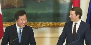 Präsident von Südkorea trifft Kurz