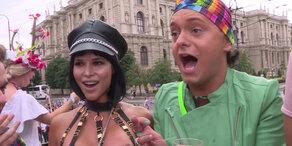 200.000 feiern Regenbogenparade