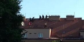 Straftäter flüchtete auf Dach: Festnahme