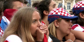 WM-Finale: So enttäuscht sind die Kroatien-Fans