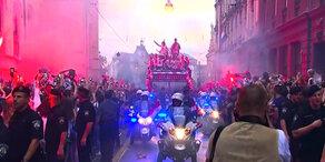 Kroatien: Über 300.000 Fans feiern WM-Helden