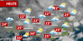 Aktuelle Wetterprognose für Montag