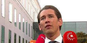 Kanzler Kurz beim EU-Gipfel in Salzburg