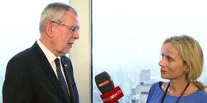 Van der Bellen im oe24.TV-Interview