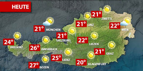 Aktuelle Wetterprognose für Mittwoch