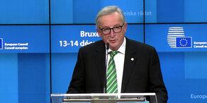 EU: Juncker zu Brexit und Katastrophenschutz