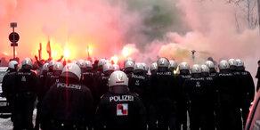 Rapid: Fan-Ausschreitungen vor Derby