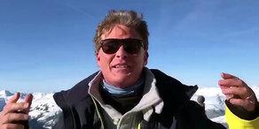 Mega-Party: Hasselhoff rockt im Schnee