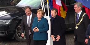 Freundschaftsvertrag: Merkel trifft Macron