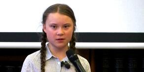 Klima-Aktivistin Thunberg in Rom