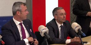 Ibiza-Skandal: Pressekonferenz von Hofer & Kickl