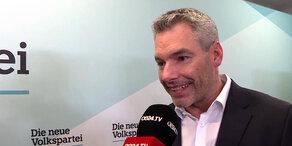 EU-Wahl: Interview mit Nehammer nach Erdrutsch-Sieg