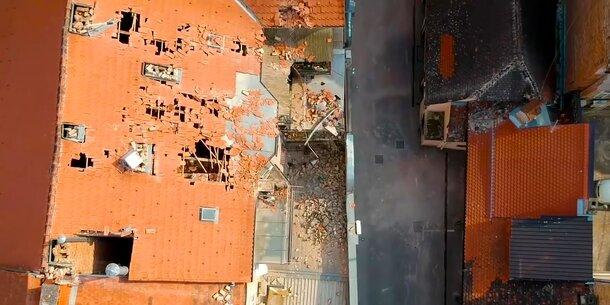 Erdbeben in Zagreb: Drohne zeigt Zerstörung