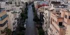 Drohne filmt Straßen von Tel Aviv in Lockdown