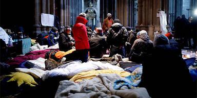 Flüchtlinge in Votivkirche