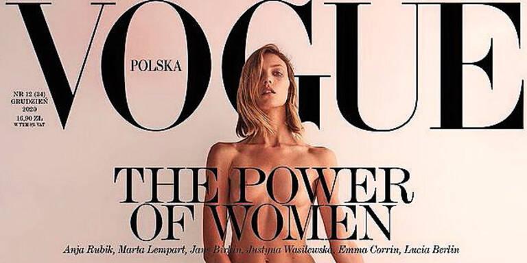 Supermodel mit Nackt-Protest auf Vogue-Cover