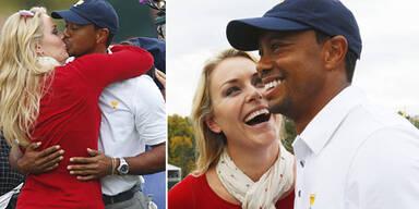 Lindsey Vonn & Tiger Woods turteln am Golfplatz