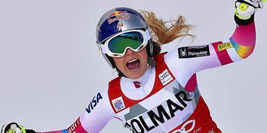 Lindsey Vonn feiert Sieg Nr. 63