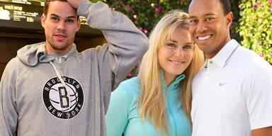 Kris Humphries, Lindsay Vonn, Tiger Woods