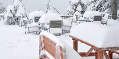 Schnee-Alarm in Teilen Österreichs
