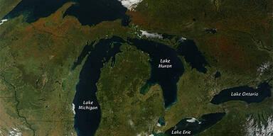 So sieht der Herbst aus dem Weltall aus