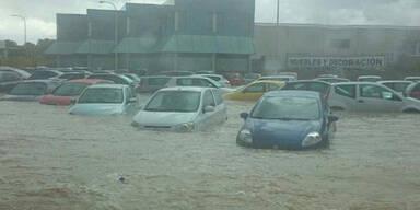 Mallorca steht unter Wasser