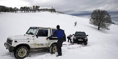 Jetzt schneit es sogar in Spanien
