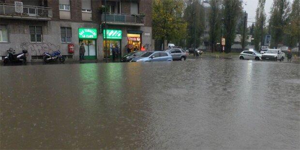 Jetzt steht Mailand unter Wasser