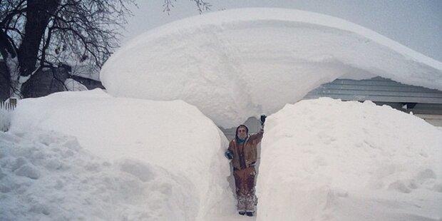 In New York liegen über 2 Meter Schnee