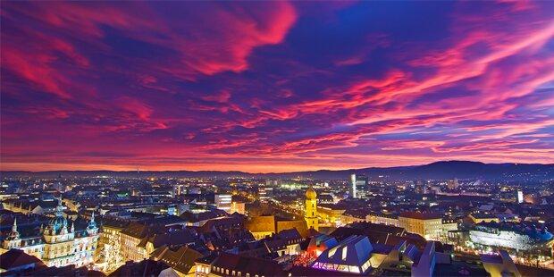 Sonnenuntergänge begeistern Österreich