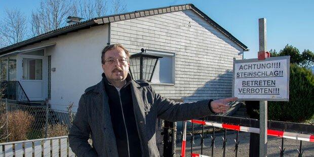 Nach Felststurz fürchtet Anrainer um sein Haus