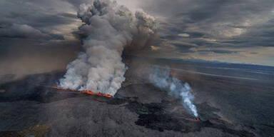 Island-Vulkan-Asche über Österreich