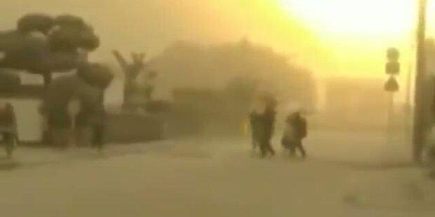 Vulkanausbruch legt Stadt lahm