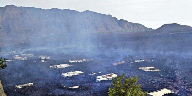 Vulkan Pico do Fogo löscht Dörfer aus