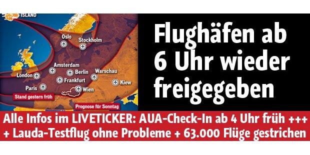 Flughäfen werden wieder freigegeben