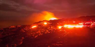 Vulkanlandschaft im Zeitraffer