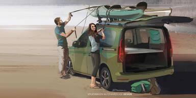 VW macht den neuen Caddy zum Camper