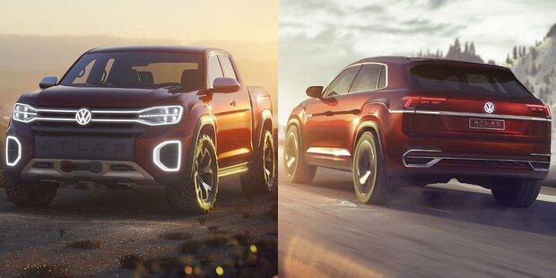 Neues SUV-Coupé & cooler Pick-up von VW