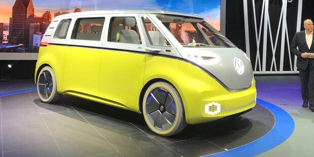 VW begeistert mit coolem Elektro-Bulli